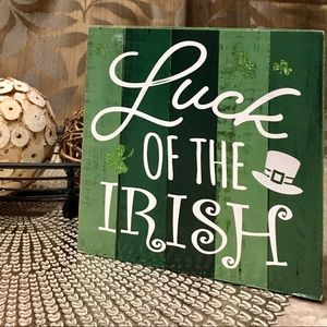 Rustic St. Patrick's Luck of the Irish Wood Sign